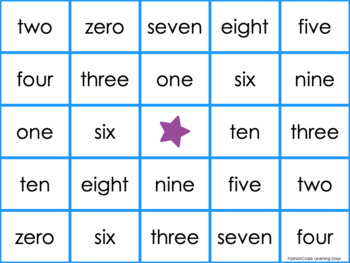 Number Words and Color Words Activities and Games
