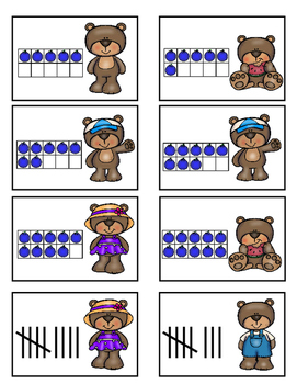 Number and Counting Game 0-10 (Bear Theme)