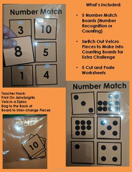 Number and Counting Matching Mats