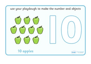Number and Counting Play Dough Mats