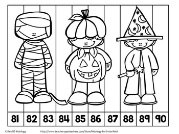 Halloween Counting Activities and Center