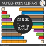 Number and Counting Rods - True to Scale!