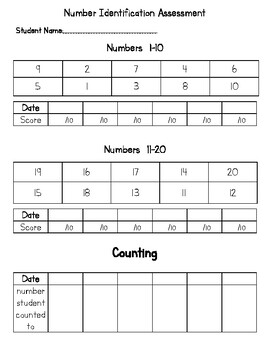 Number and Letter Assessment