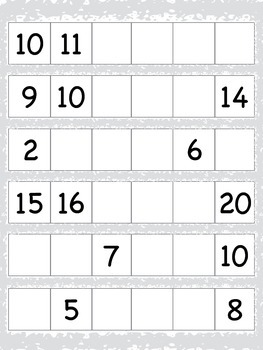 Number and Letter Fill-In with Tiles