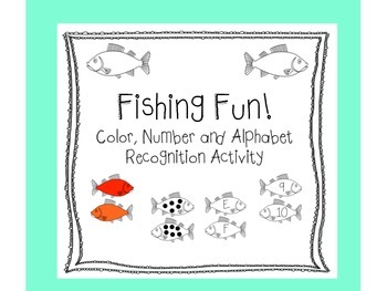 Color, Number, and Letter Recognition Fishing Dramatic Play