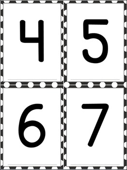 Number and Letter Flashcards