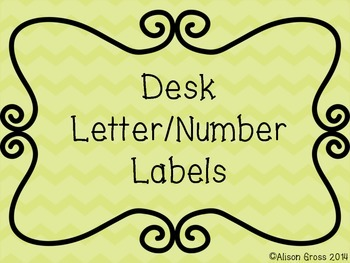 Number and Letter Labels for Desks