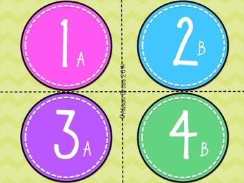 Number and Letter Labels for Desks