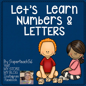 Number and Letter Learning Mats*SPECIAL EDUCATION*