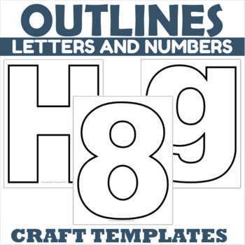 Number and Letter Outlines Bundle