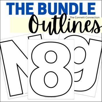 Number and Letter Outlines Bundle