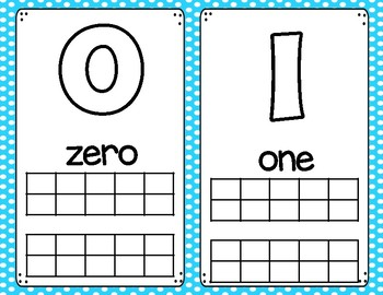 Number and Letter Play Dough Mats