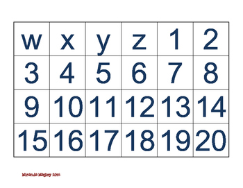 Number and Letter Recognition Game