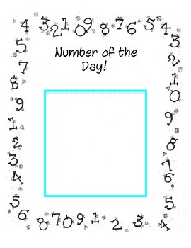 Number and Letter of the Day