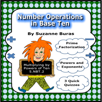 Number and Number Operations in Base Ten: Prime Factorization and Exponents