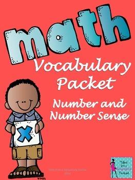 Number and Number Sense Mathematics Vocabulary Packet