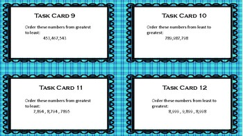 Number and Number Sense Task Cards Virginia SOL Aligned