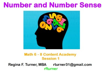 Number and Number Sense for Math 6-8