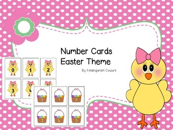 Number and Number Word Cards -Easter Theme