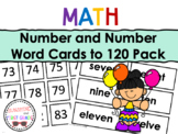 Number and Number Word Cards to 120 Bundle