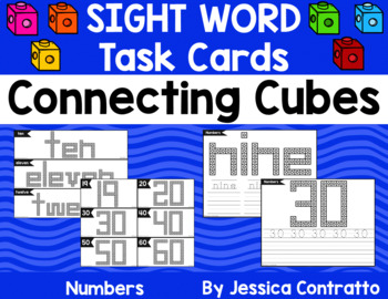 Number and Number Word Task Cards: Connecting Cubes