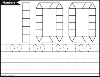 Number and Number Word Task Cards: Pattern Blocks