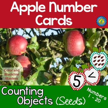 APPLE Number + Counting Objects Cards for Matching-Sequenc