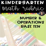 Kindergarten Math Rubric: Number and Operations - Base Ten