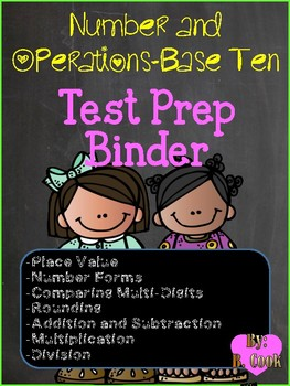 Number and Operations Base Ten: Test Prep Binders