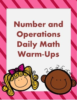 Number and Operations Math Morning Work - Ready to Print!