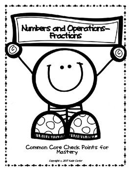 Number and Operations- Fractions Checkpoints