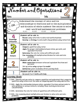 Number and Operations - Math Assessment Minnesota 6th Grade Standard 2