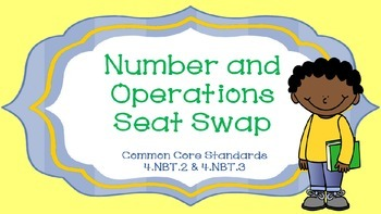 Number and Operations Seat Swap Math Game