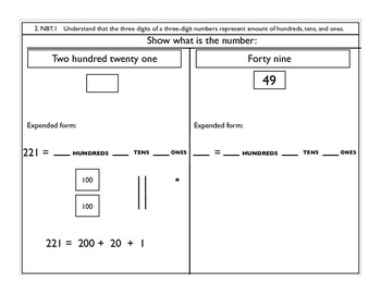 Number and Operations in Base Ten  2.NBT