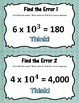 Number and Operations in Base Ten: 5.NBT.1-7 - Find the Error Task Cards