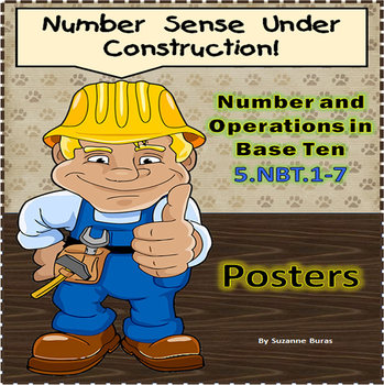 Number and Operations in Base Ten: 5.NBT.1-7 - Posters