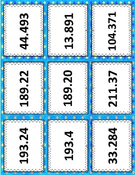 Number and Operations in Base Ten: 5.NBT.A.3b - Decimal Dominoes Game