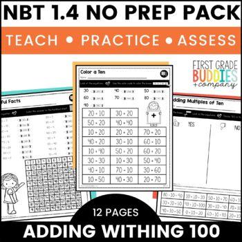 Print a Standard 1.NBT.4 {Adding Within 100} No Prep Pack