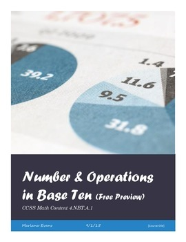 Number and Operations in Base Ten Assessments (Free Preview)