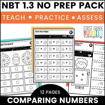 Comparing Numbers   NBT 1.3   No Prep Tasks   Assessment   Worksheets