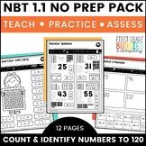 Count to 120 | NBT 1.1 | No Prep Tasks | Assessment | Worksheets