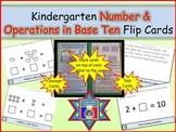 Number and Operations in Base Ten Kindergarten Flip Cards (Task Cards)