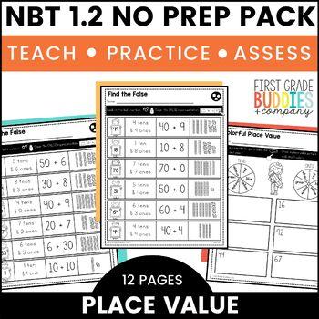 Place Value | NBT 1.2 | No Prep Tasks | Assessment | Worksheets