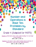 Number and Operations in Base Ten Printables by Standard *Great for Test Prep!*