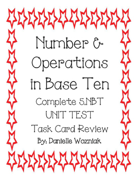 PREVIEW: Number and Operations in Base Ten Task Card Review