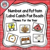 Number and Pattern Label Cards For the Year