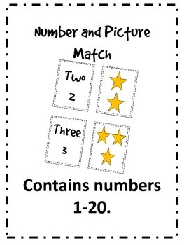 Number and Picture 1-20 Match