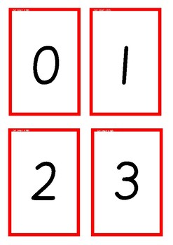 Number and Picture Cards to 0-5