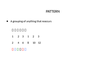 Number and Picture Patterns