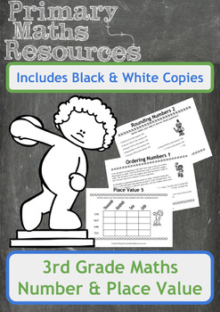 Number and Place Value Worksheets with an Ancient Greek Theme for 3rd Grade
